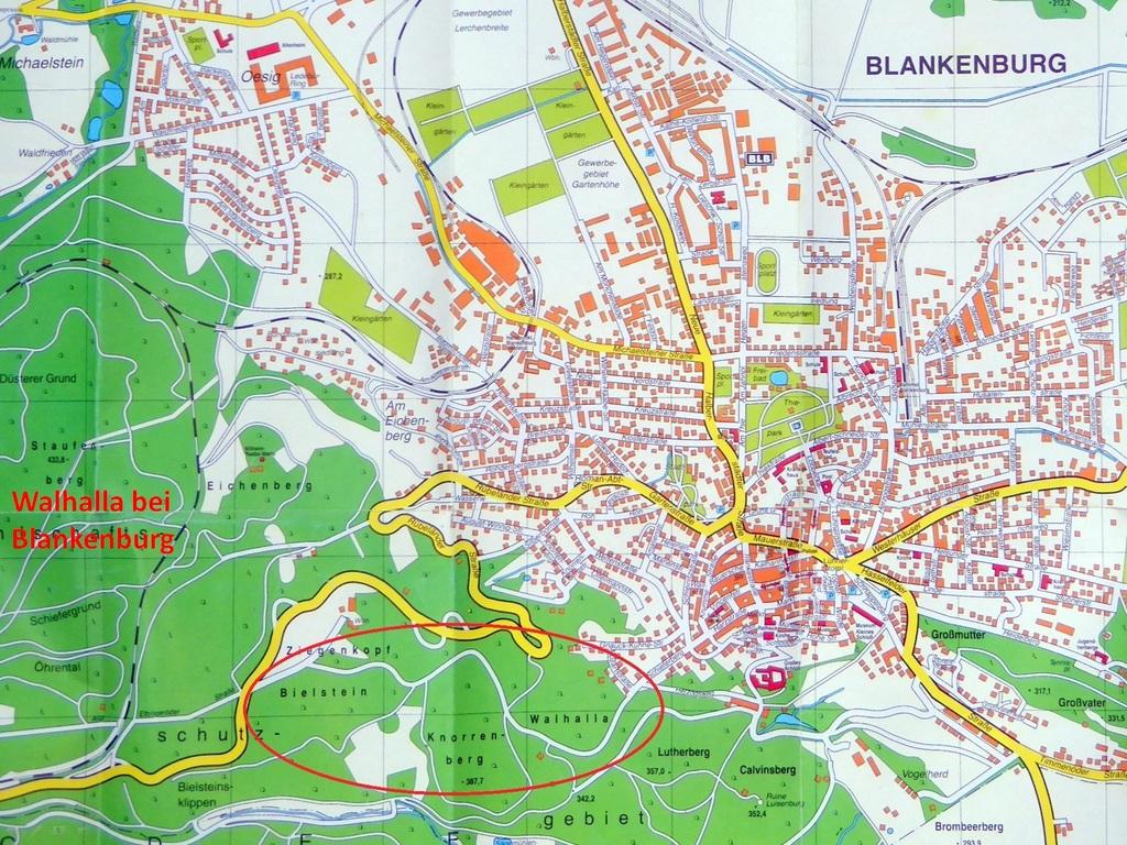 Moderner Stadtplan von Blankenburg