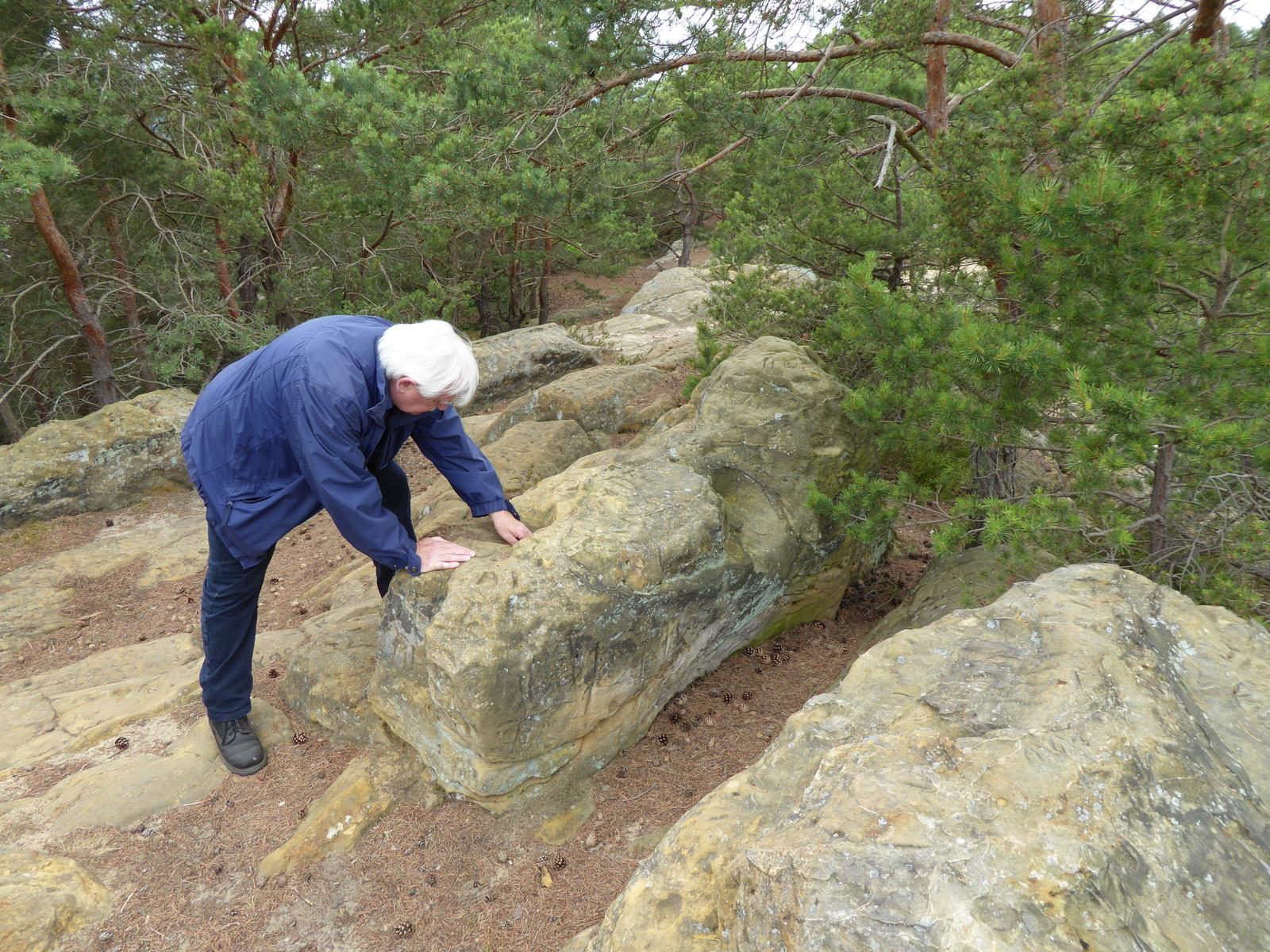 Herr K.Podlasly beim Untersuchen