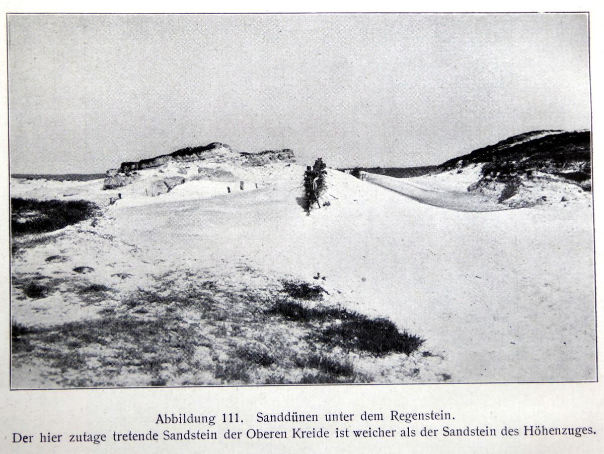 Ansicht der Sandwüste am Heers um 1900