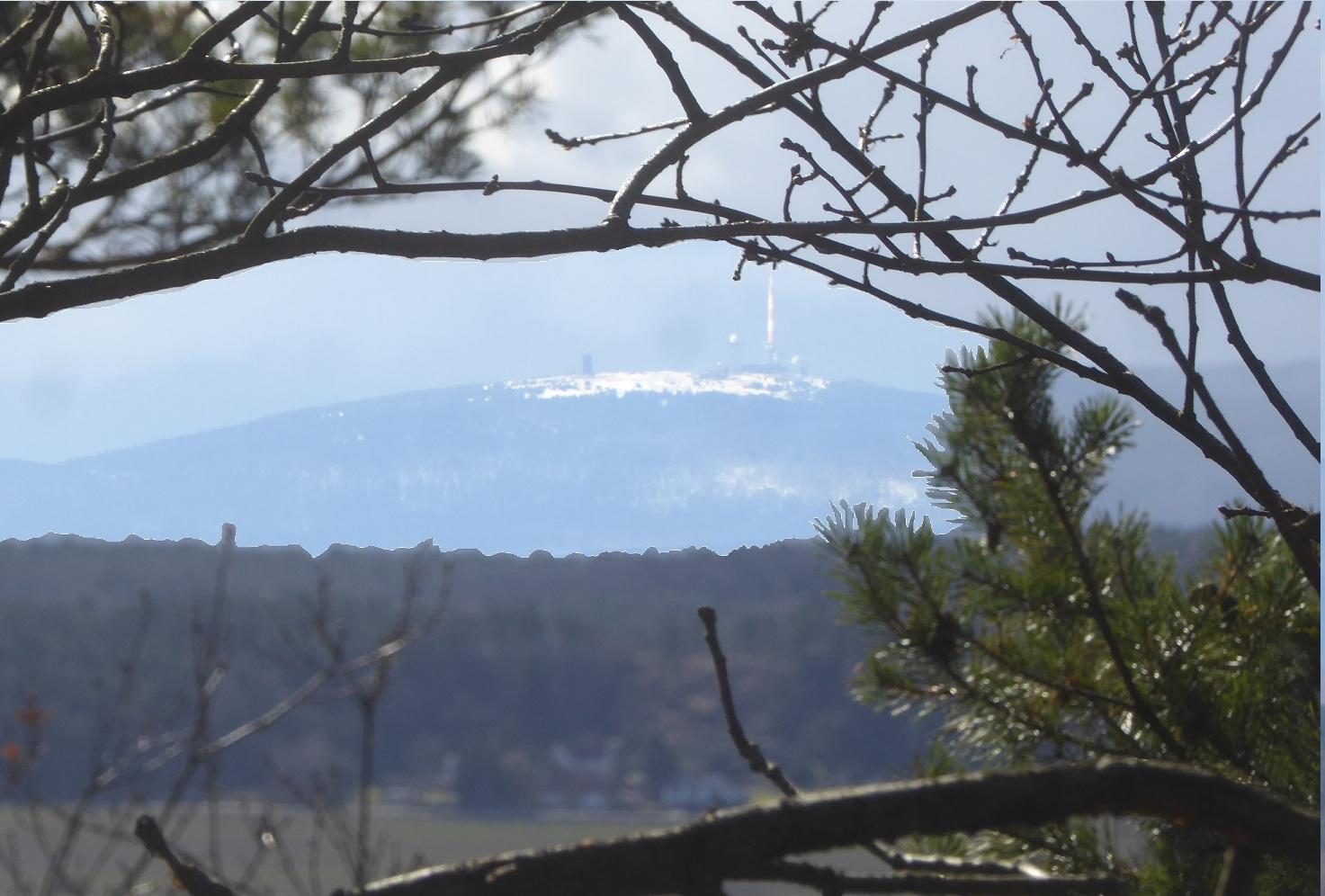 Die verbliebene Sicht zum Brocken