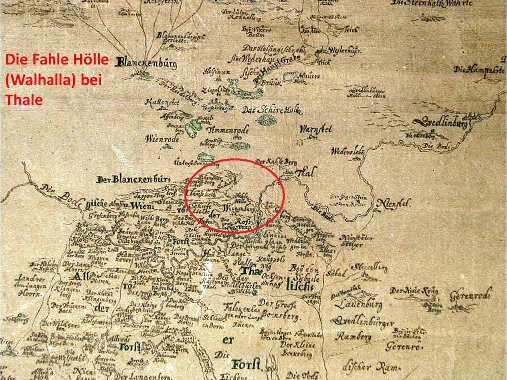 """Historische Karte mit der """"Fahlen Hölle"""""""