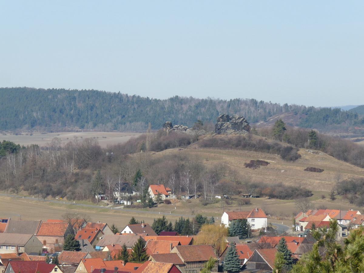Panoramasicht zum Königstein von der Klippe aus