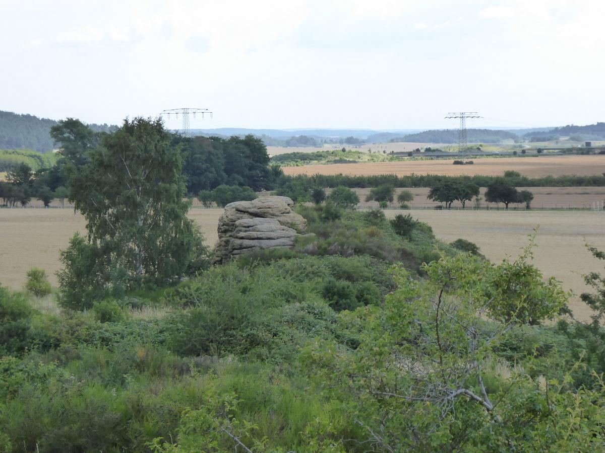 Der östliche Felsen, scheinbar nur ein Block