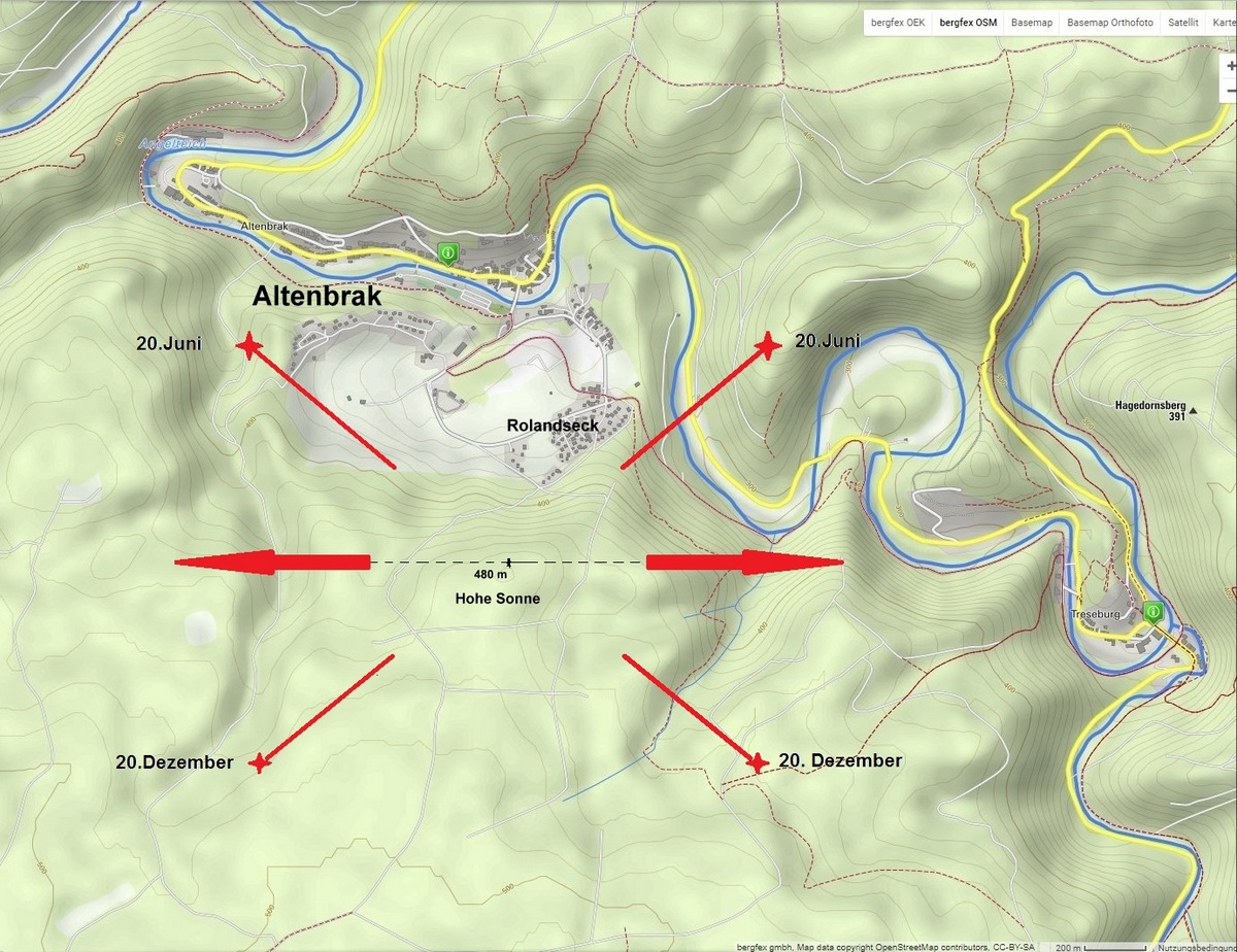 Blick auf die topogr. Karte