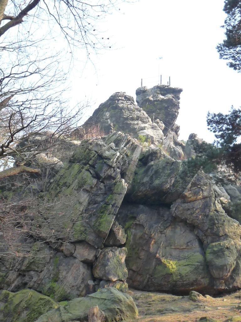 Der Felsen aus der Nähe