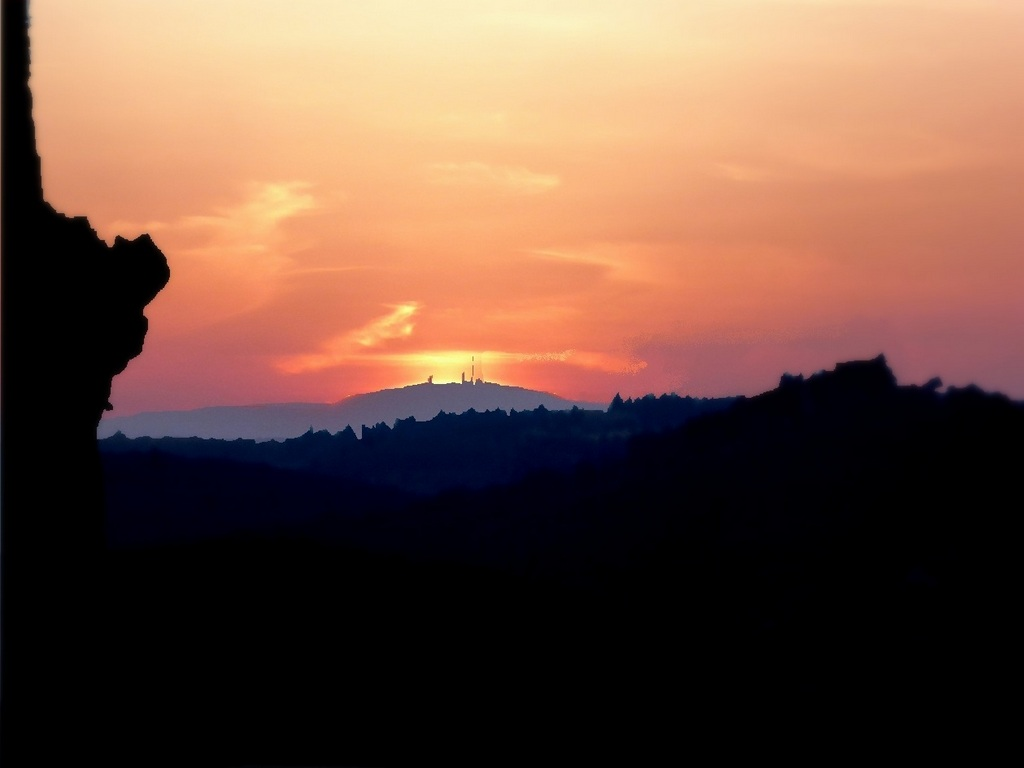 Sonnenuntergang am 20. März vom Thron aus