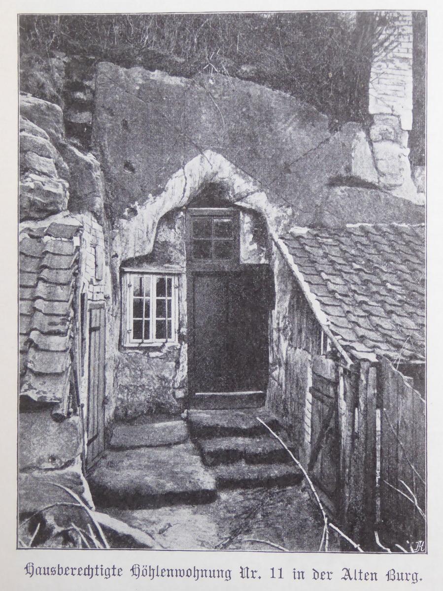 Höhlenwohnung an der Altenburg um 1910