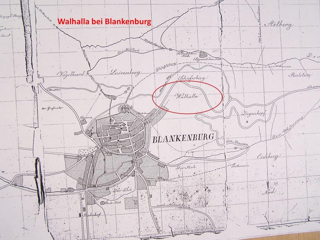 Historisch Kartevon Blankenburg, ca. 1800