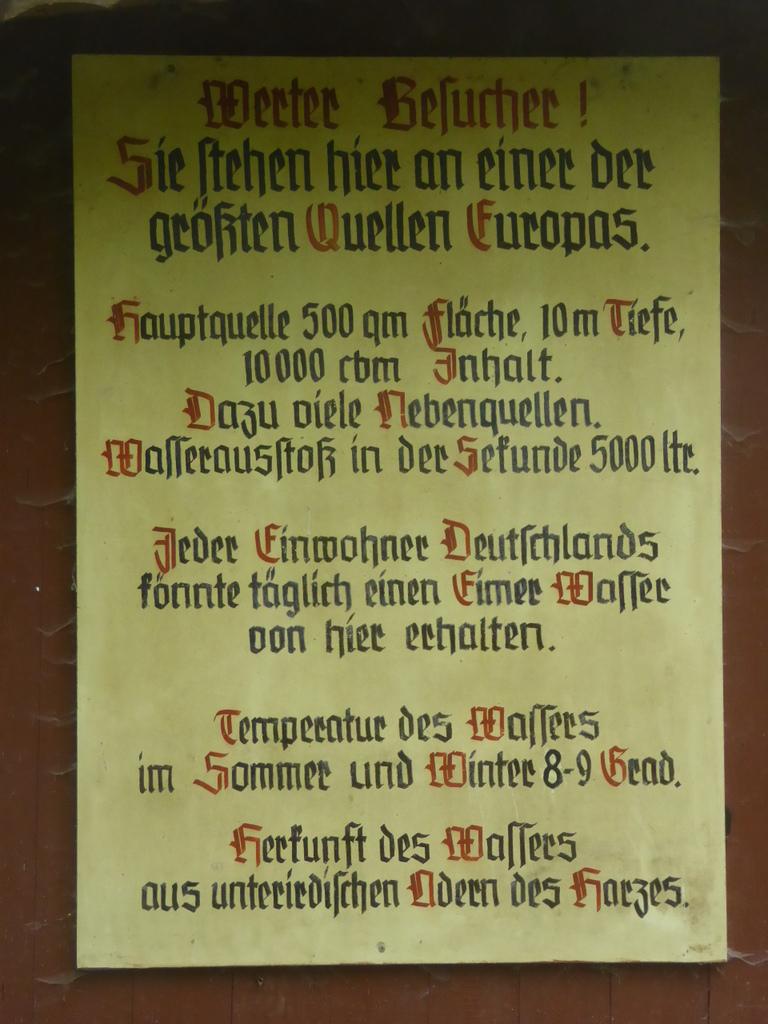 Ein alte Infotafel