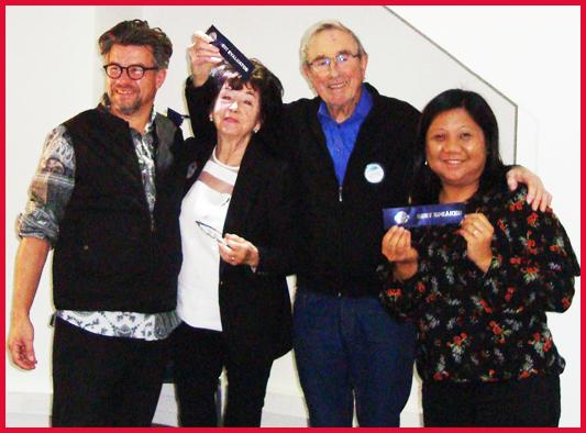 Winners : Michael, Maggie, Frank & Maricel