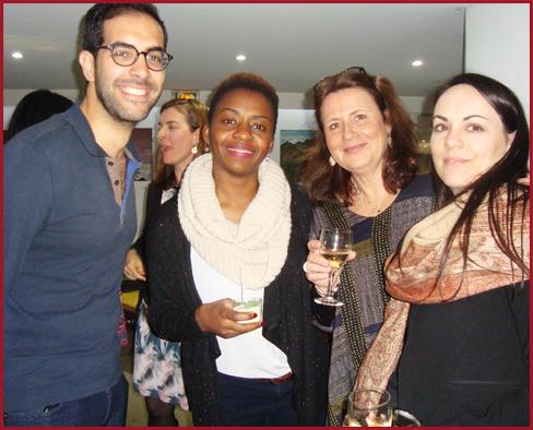 L/R Farouk,Christelle, Catherine & Jenny