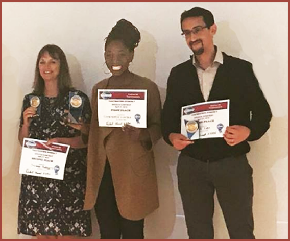 Winners Speech Contest Eng.Chair Bilal 1st Claude-Eugenie Iwandza TM Lyon Unlimited 2nd Susanne Barratt TM Lyon English  3rd Jaâfar Tabi TM Toulouse Communication