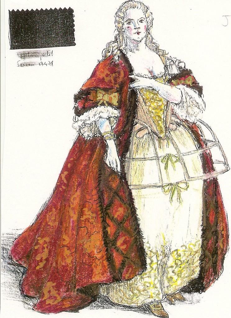 Costume (Patrice Cauchetier) La Répétition Interrompue Op.Comique