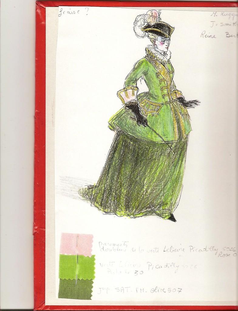 Costume (Patrice Cauchetier) Reine Berthe (La Fée Urgèle)