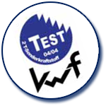 Prüfzeichen KWF-Test