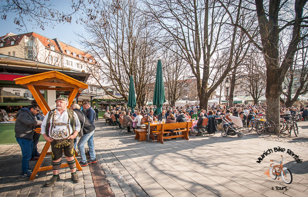 Viktualienmarkt - Beer Garden and Fresh Food Market