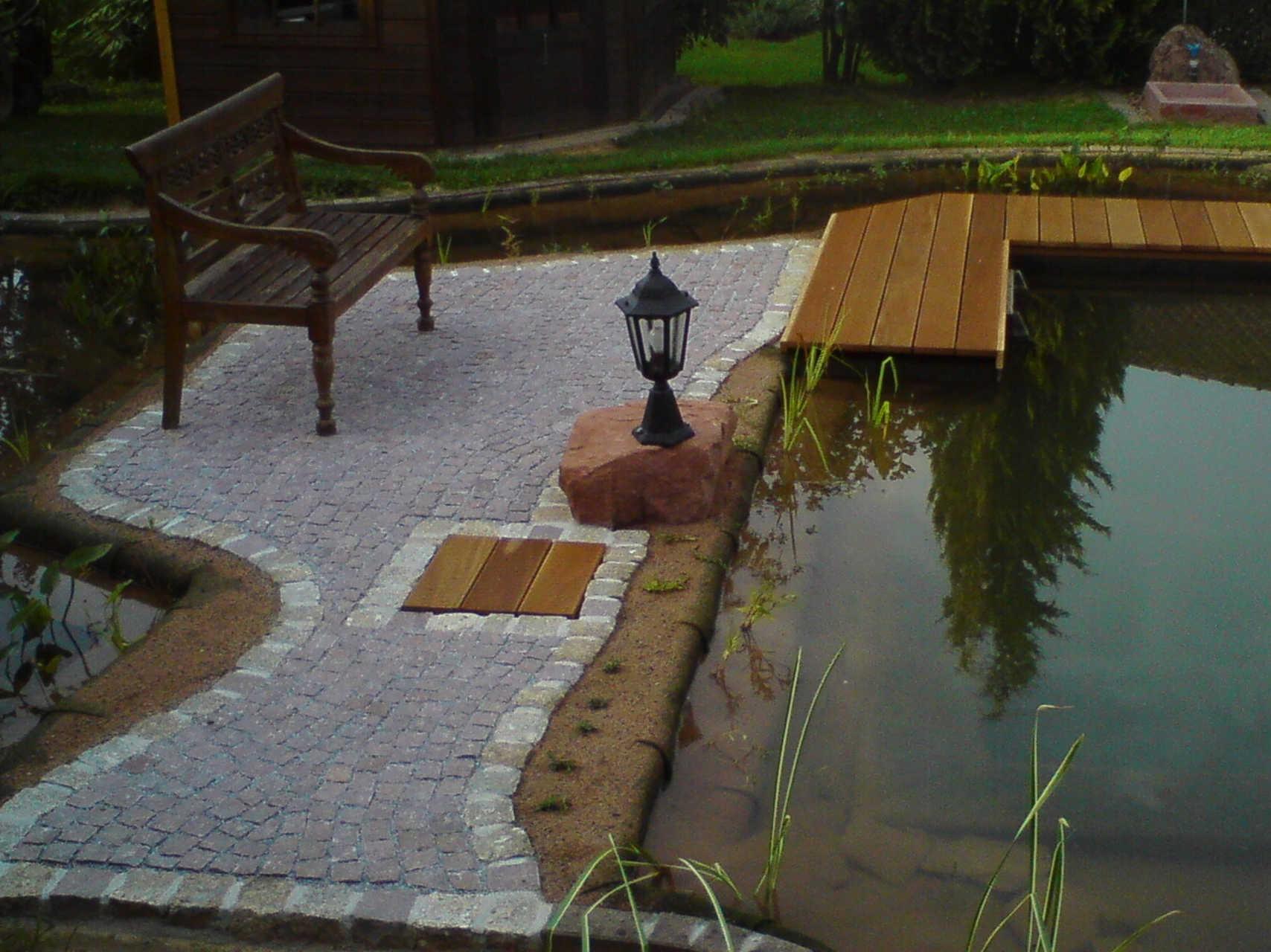 Sitzplatz aus Granitpflaster