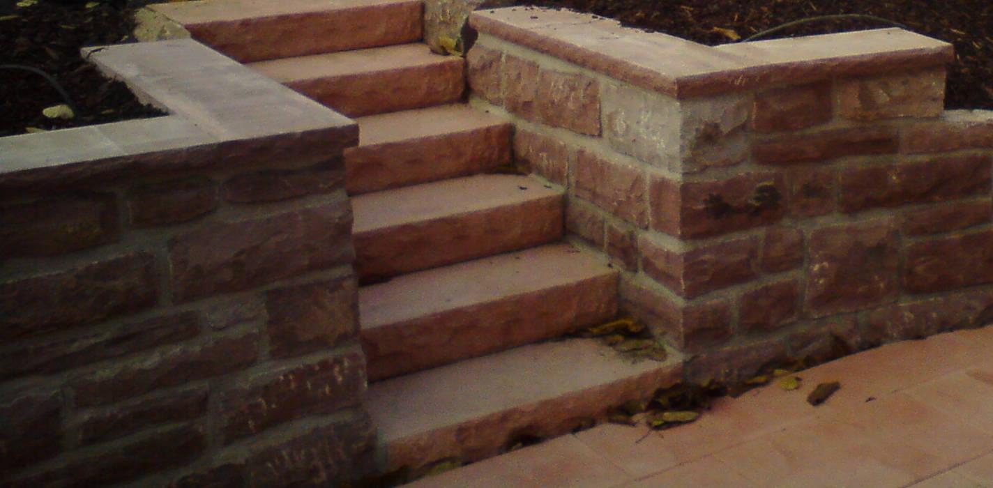 Treppe aus Blockstufen Beton