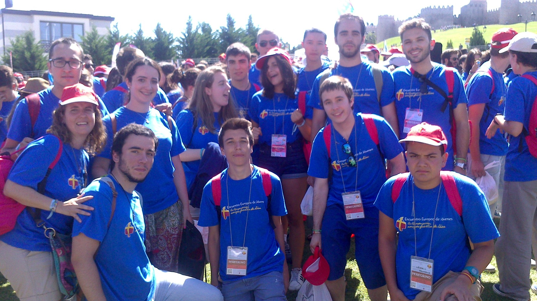 Jóvenes de la parroquia en el Encuentro Europeo de Jóvenes de Ávila - Agosto 2015
