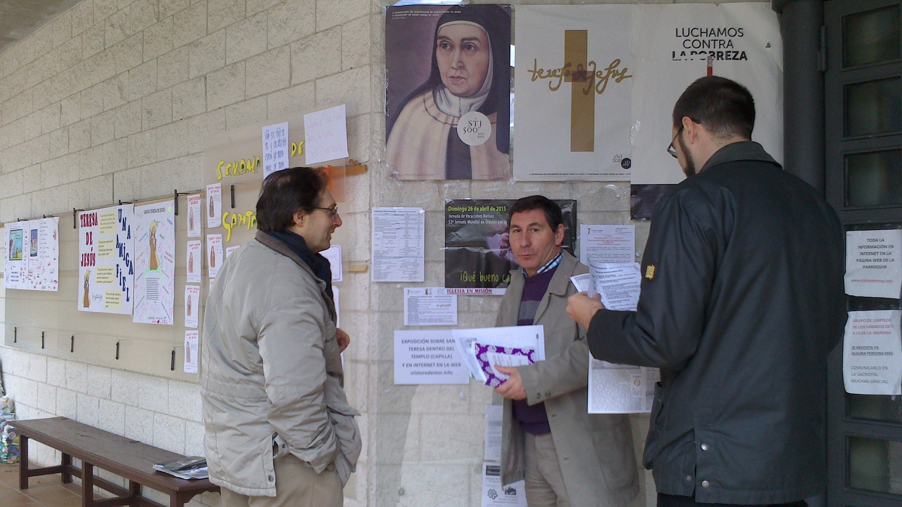 Exposición de Santa Teresa en nuestra parroquia (Semana de Santa Teresa del 18 al 26 de abril)