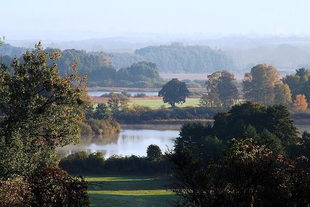 Drei-Seen-Blick im Herbst
