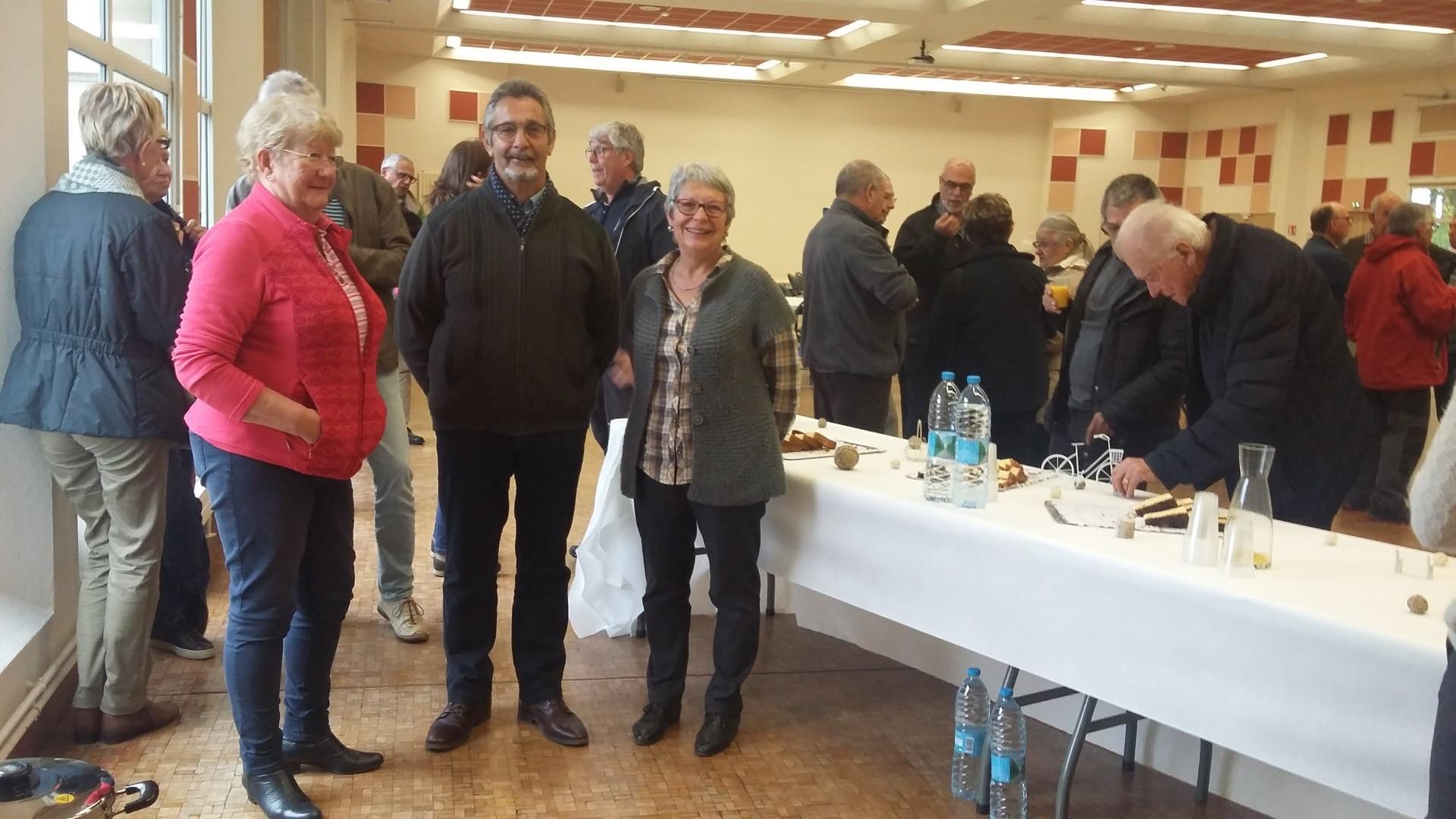 Claudine CDRP60, Alain, Brigitte, bénévoles du club de Noyon