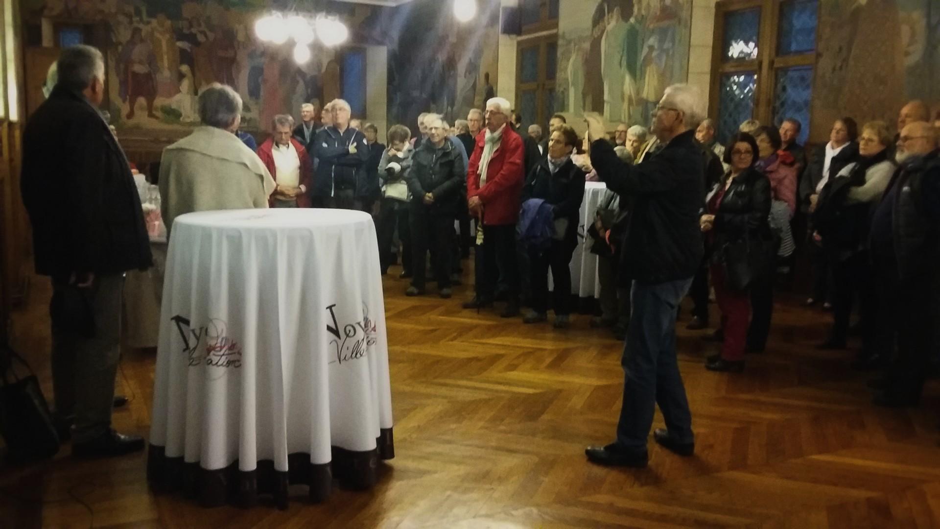 Réception à la mairie