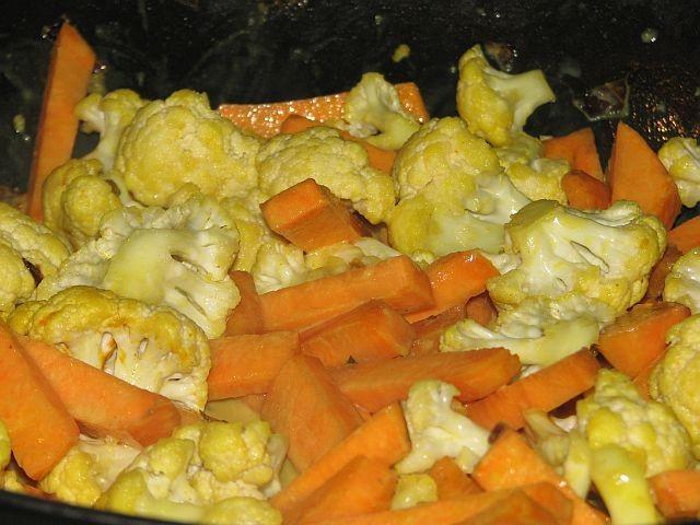 Blumenkohl mit Süßkartoffeln