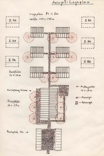 Planzeichnung für das Umweltzentrum in Massoumbou © Waltraut Biester