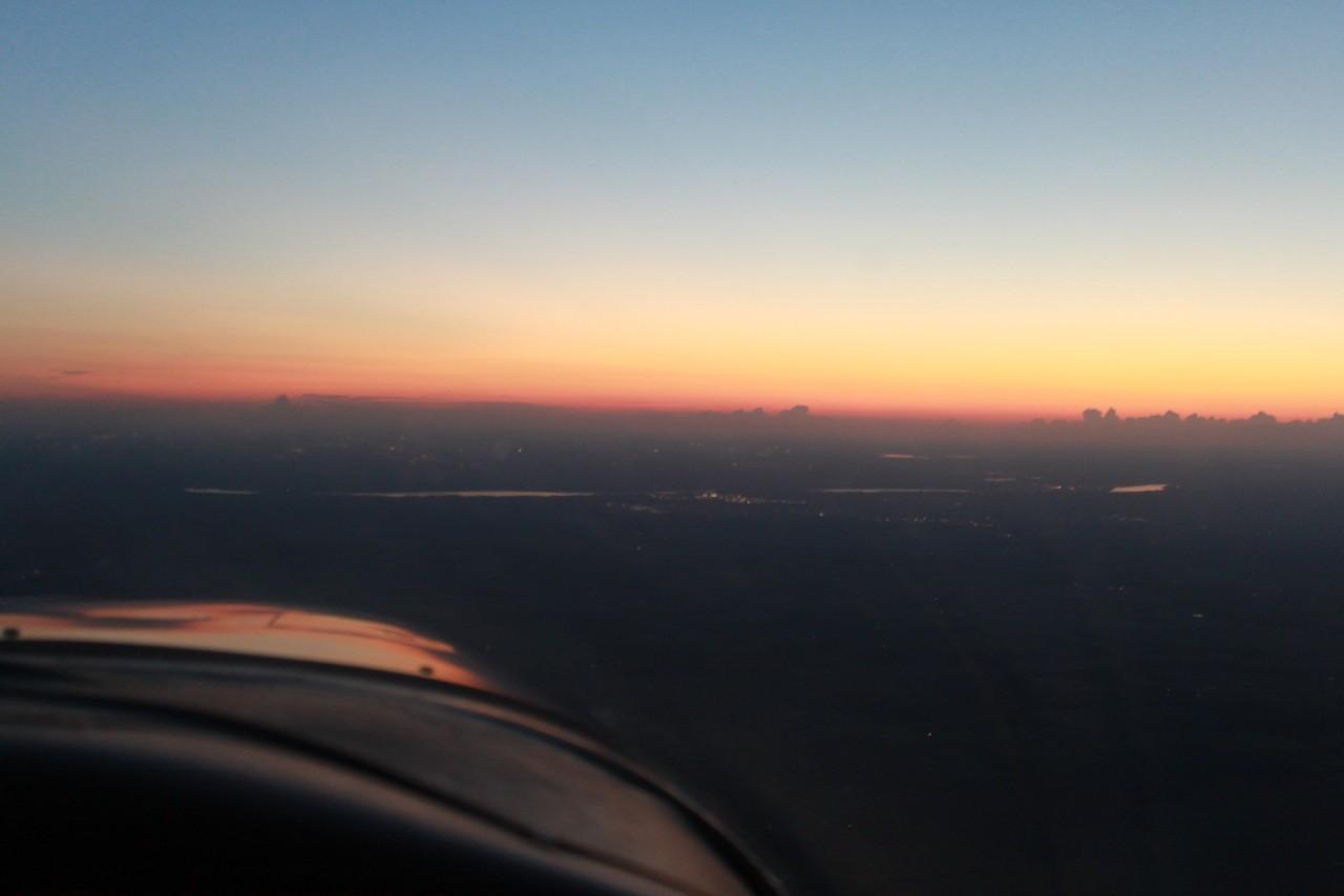 Flug zurück nach Saint Paul