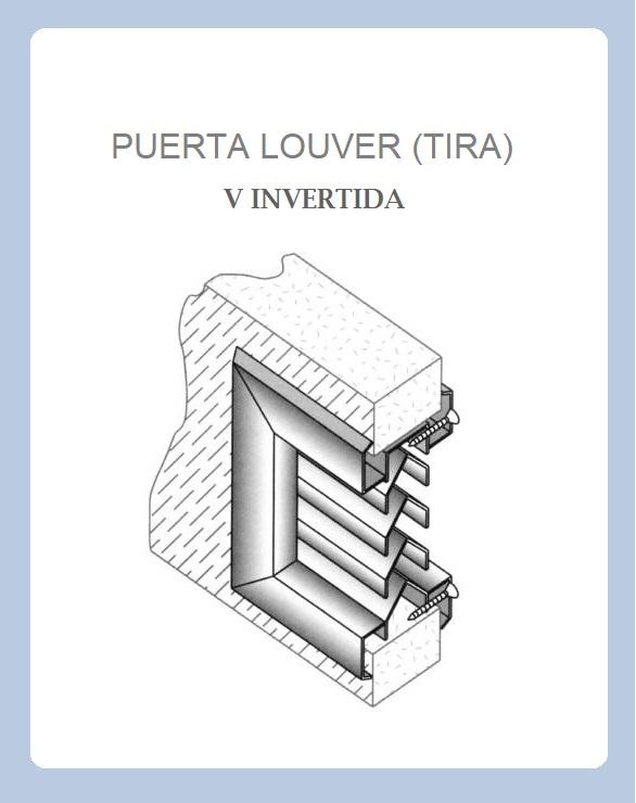 PUERTA LOUVER (TIRA) MODELOS RECTA J Z V INVERTIDA y Z a 90° V INVERTIDA DIAGRAMA
