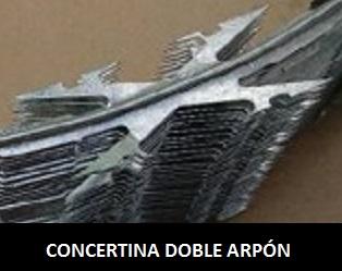 Concertina Doble Arpón en 3 diámetros