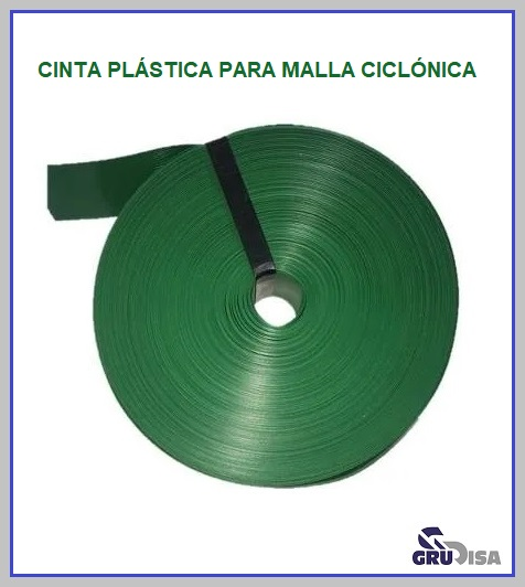CINTA PLASTICA PARA MALLA CICLONICA EN DOS MEDIDAS DE ANCHO