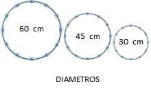 CONCERTINA RECTA GALVANIZADA DIAMETRO DE 60 45 30 cm