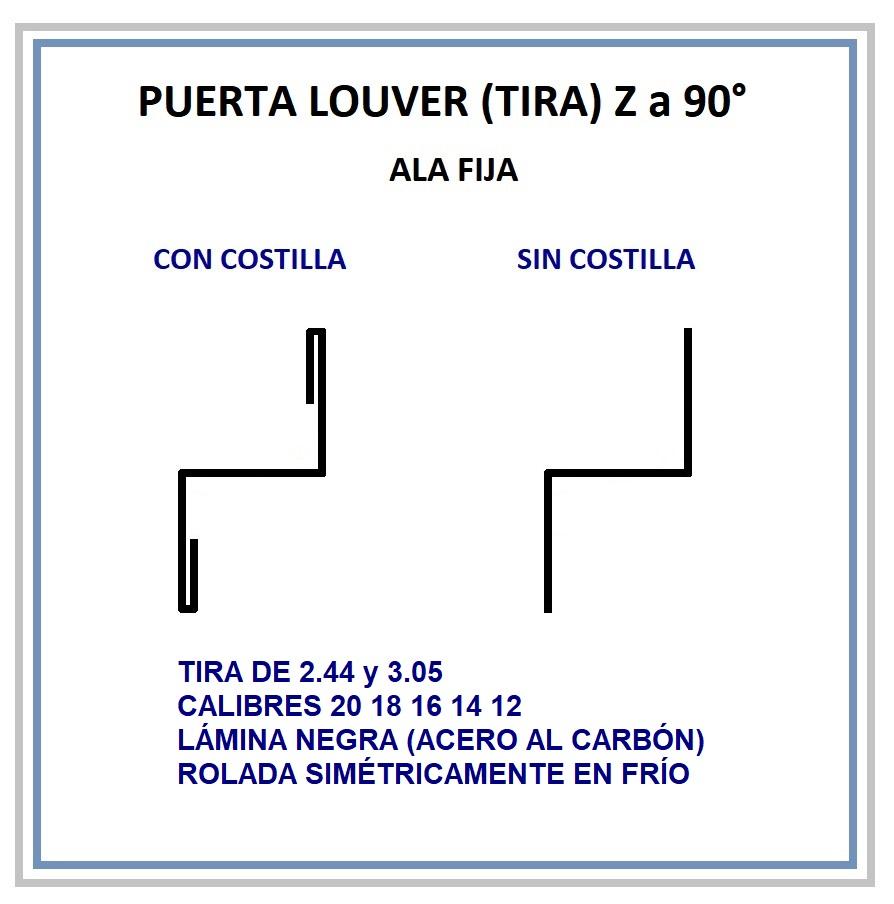 REJILLA LOUVER (TIRA) Z a 90°