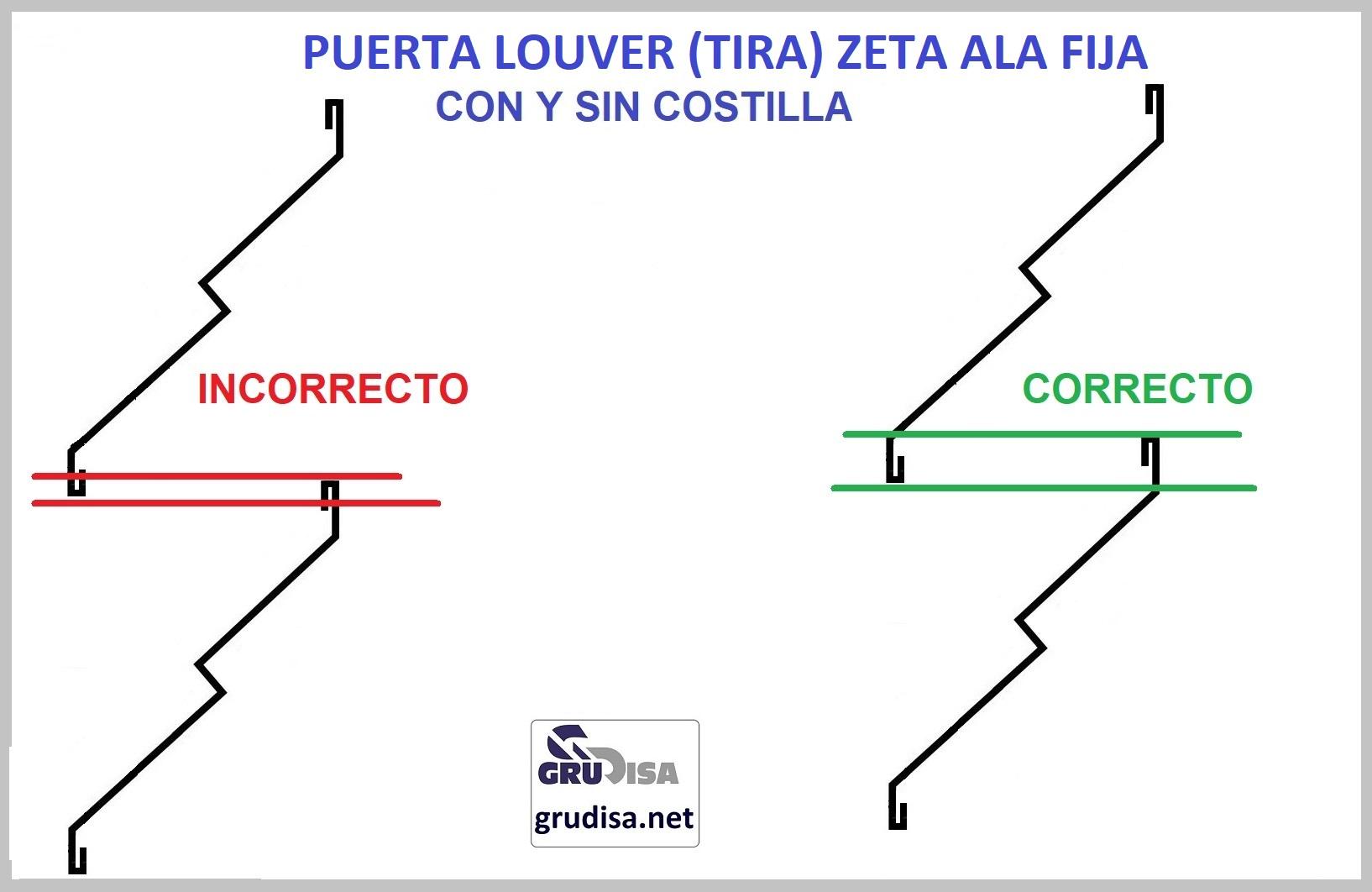 """PUERTA LOUVER Z (TIRA) PERFILES DE 1 1/2"""" y 2"""" LARGOS DE 0.91  1.22  2.44  y  3.05 m"""