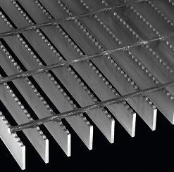 REJILLA INDUSTRIAL TIPO IRVING MULTI REJILLA (REJILLA ELECTROFORJADA) CON SOLERAS DENTADAS