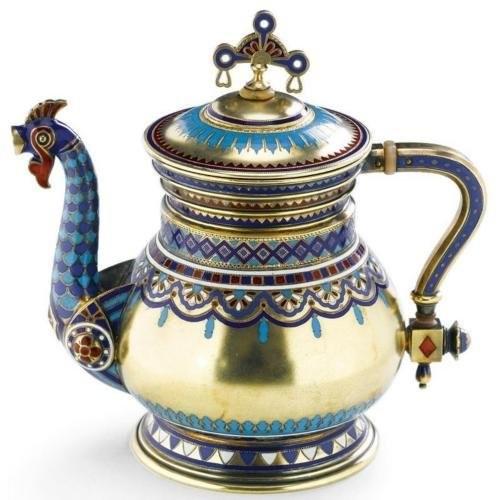 Мастерская Хлебникова Чайник Серебро, золочение, эмали 1883 г