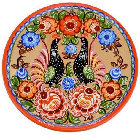 Тарелка-панно Городецкая роспись