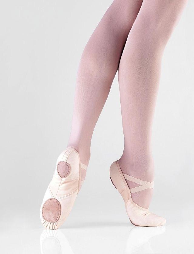 Balletschoen niet-doorlopende zool