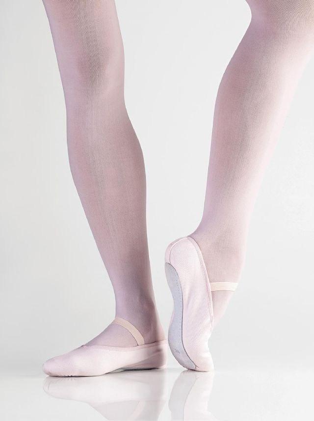Balletschoen doorlopende zool