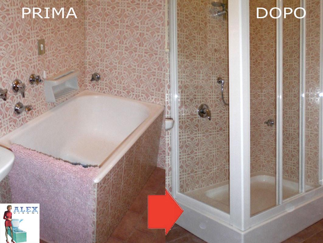 Sostituzione vasca con doccia box a bagno a ripoli - Sostituzione vasca da bagno ...