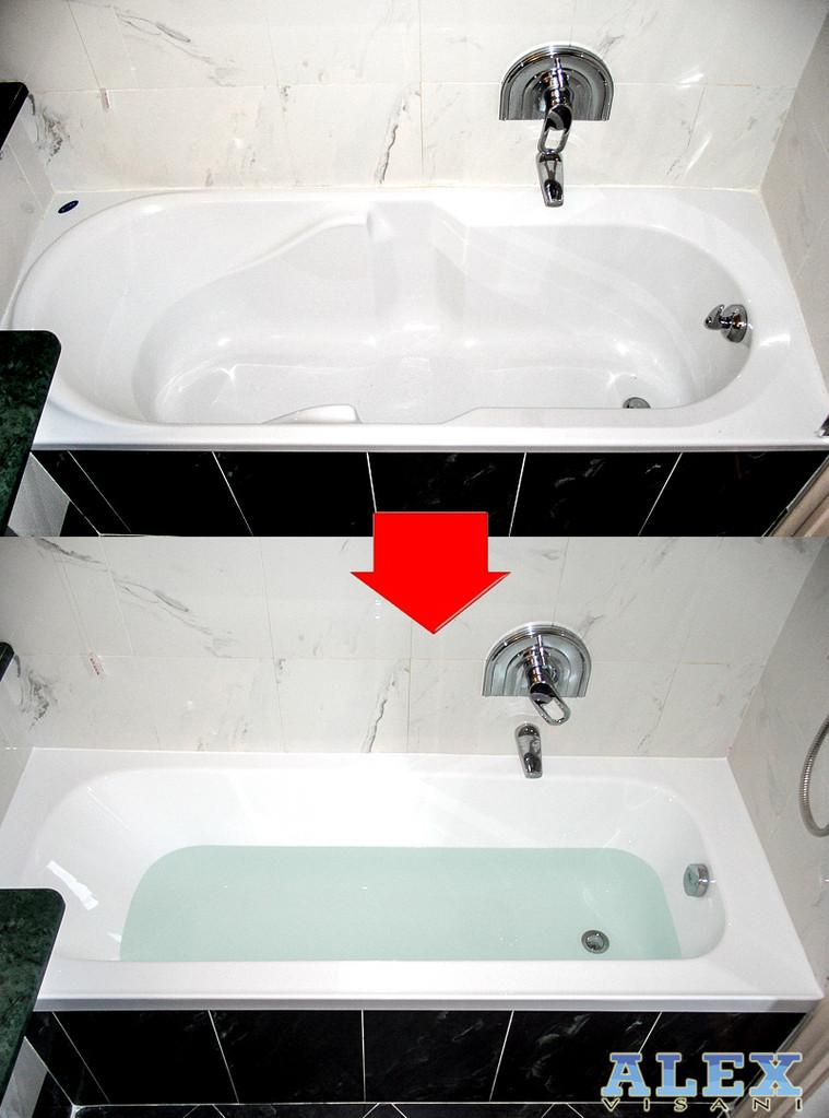 Sostituzione completa di una vasca da bagno a forte dei marmi lucca toscana alex vasche - Sostituzione vasca da bagno ...