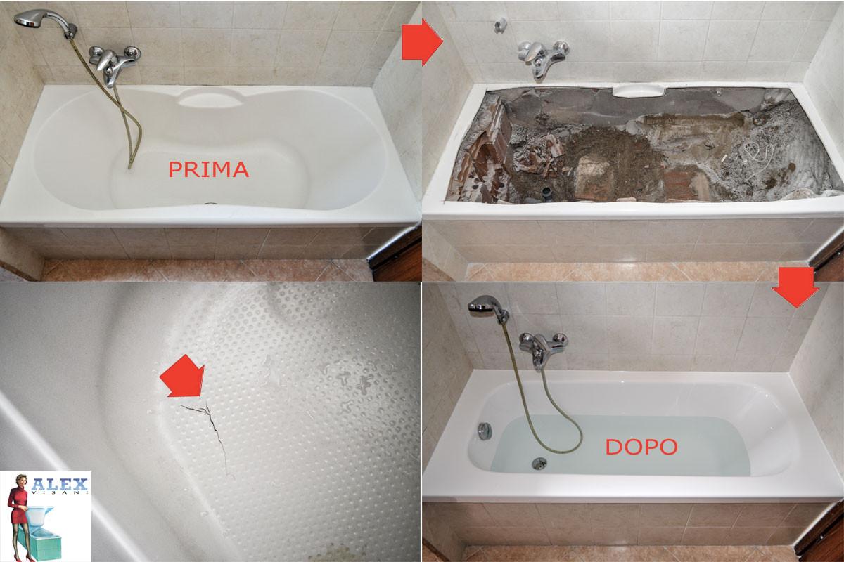 Sostituzione vasca da bagno prato alex vasche firenze vasca rovinata alex visani la - Sostituzione vasca da bagno ...