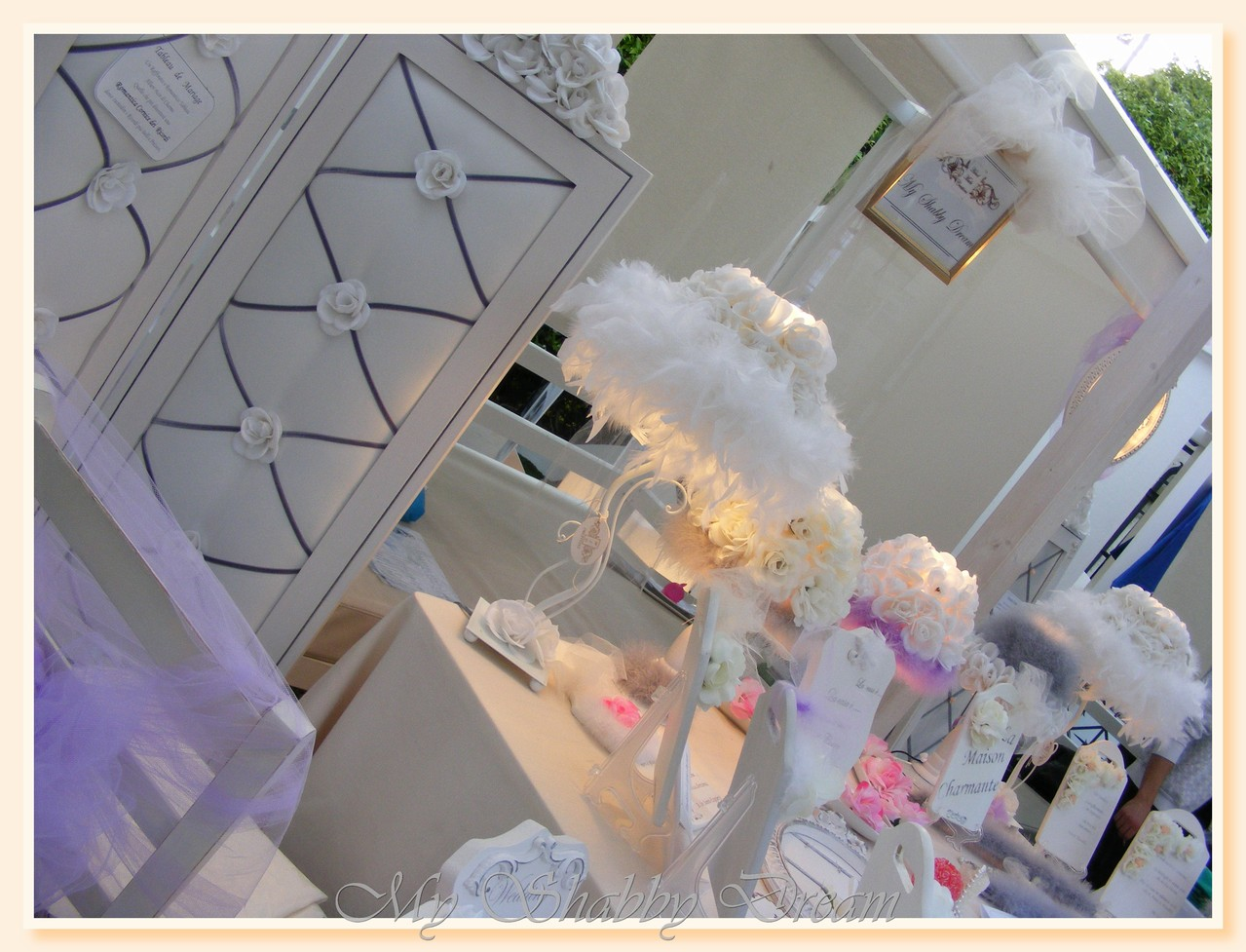 Lampada da tavolo serie Wedding - Abat-jour serie Le frù-frù