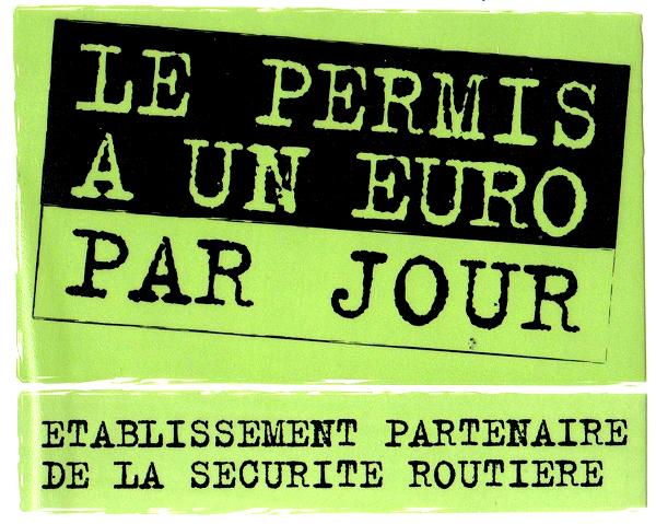 """Dans le cadre de sa politique de sécurité routière, l'état s'engage financièrement dans l'opération """"Permis à u"""