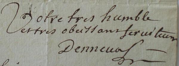 Signature de Jean Charles Marc Antoine Vaumesle d'Enneval