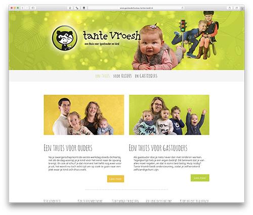 website Gastouderbureau Tante Vroesh