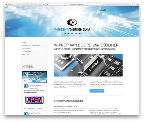 website Werkina Werkendam scheepselektro