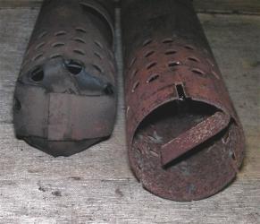Bild: Pfeife von vorn --verschlossen und offen